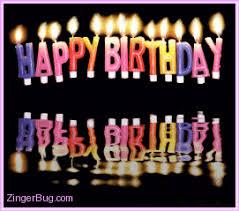 Happy Birthday Meme Gif - happy birthday reflecting candles glitter graphic greeting