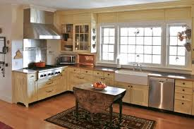 Kitchen Island With Bookshelf Two Toned Kitchen Cabinets Beige Granite Worktop Gas Range White