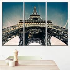 aliexpress com buy 3 plate the eiffel tower building canvas