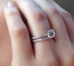 wedding band with engagement ring solitaire wedding rings and engagement bands dual gold wedding