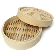 chinois cuisine dim sum vapeur en bambou à palier unique vapeur de cuisson