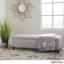 Grey Fabric Storage Ottoman Christopher Knight Home Ottilie Fabric Storage Ottoman By