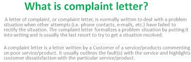 Letter Meaning In what is complaint letter in business communication
