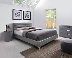 chevet chambre adulte chevet contemporain rond en pu gris emerick chevet chambre