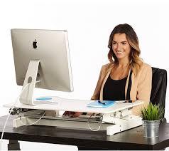Used Adjustable Height Desk by Standing Desk The Deskriser Height Adjustable Heavy Duty Sit