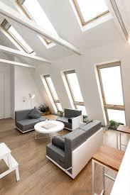 adaptable 516 sq ft attic apartment gets its own floating atrium