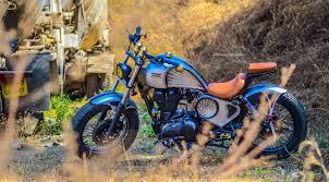 modified bullet raudra custom royal enfield thunderird by maratha motorcycles