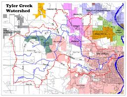 Elgin Illinois Map by Tyler Creek Watershed Map
