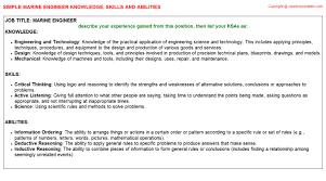 marine engineer knowledge u0026 skills