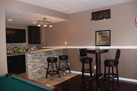 Small Basement Bar Ideas Interior Curved Small Basement Bar Design Ideas With Black Iron