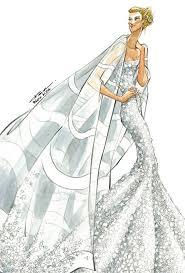 jennifer aniston u0027s wedding dress designer sketches wedding