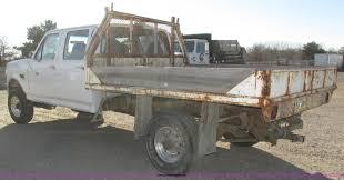 Ford F350 Dump Truck Gvw - 1996 ford f350 xlt crew cab flat dump bed truck item h1032