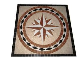 tile floor medallion marble mosaic square design 24