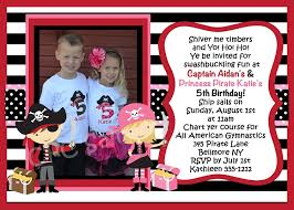 twins pirate birthday invitation printable or printed party invite