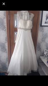 ronald joyce size 14 unaltered never worn wedding dress in