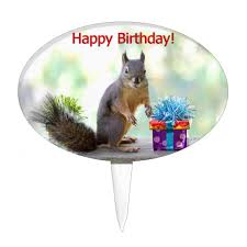 squirrel cake topper happy birthday squirrel cake topper zazzle
