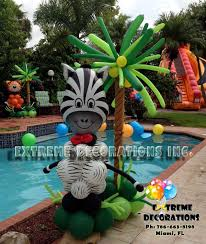 jungle theme decorations jungle theme party decorations balloon sculpture zebra with