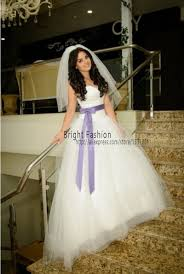 aliexpress com buy 2016 purple white wedding dress puffy