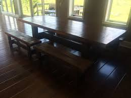 Barnwood Dining Room Tables by Custom Made Rustic Barnwood Furniture Plank Dining Table Custom