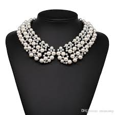 choker style pearl necklace images Wholesale new europe and the united states fashioncrystal collar jpg