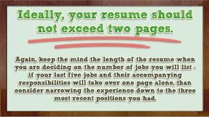 Best Resume Length by How To List Your Experience On Your Resume Youtube