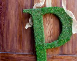 moss covered letters moss covered letter etsy