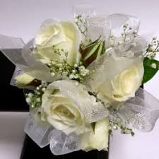 White Rose Wrist Corsage Prom Flower Delivery In Las Vegas Signature Flowers