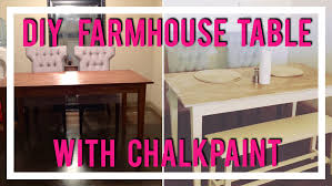 chalk paint farmhouse table diy farmhouse dining table with chalkpaint youtube