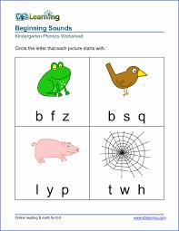 free preschool u0026 kindergarten beginning sounds worksheets