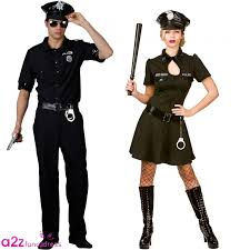 cop halloween costume police officer cop ladies mens couples fancy dress costume