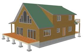 Small Cabin Plan Free Sample Cabin Plan H235 1260 Sq Ft 1 Bedroom 1 Bath Main 600