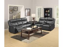 simple elegance reclining sofa with drop drop down table domino