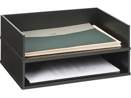 victor 1154 5 midnight black stacking letter tray victor