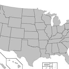 map of us states empty america empty map map of usa