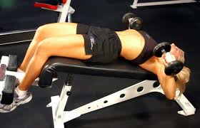 exercise of the week dumbbell flat bench presses