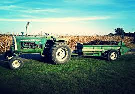 oliver 1850 gas w oliver spreader white tractors pinterest