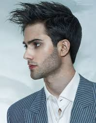 dynamic men u0027s hairstyle with the longer front hair lifted with gel