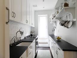 white galley kitchen ideas sophisticated small galley kitchen in black and white idea