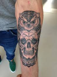 sugar skull and clock tattoo design photos pictures and