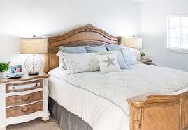 Coastal Bed Frame Condo Coastal Decor Master Bedroom And Bath The Lilypad