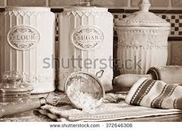 kitchen flour canisters kitchen canisters stock images royalty free images vectors