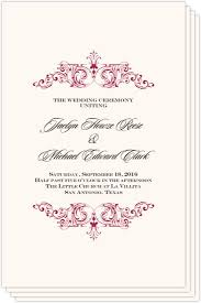classic wedding programs wedding programs and program wording templates by culture