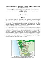 structural elements in deccan traps of koyna warna region from