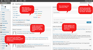 re thinking the wordpress admin a new concept dashboard design