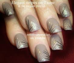 nail art diy easy nail art for beginners taupe stripes with