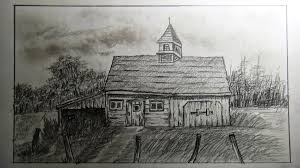 Old Barn Photos How To Draw An Old Barn Old Farm House Part 1 Youtube