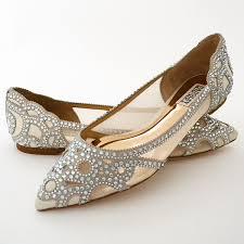 wedding shoes flats badgley mischka gigi ivory glamorous flat wedding shoes