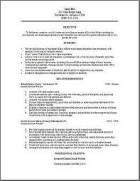 Sample Social Work Resumes by Social Work Resume Examples U2013 Resume Examples