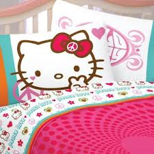 kitty bedding totally kids totally bedrooms kids