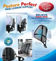 amazon com posture perfect mesh lumbar support health u0026 personal